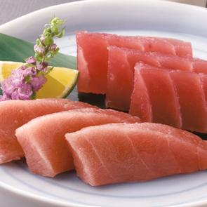天然本まぐろセット 日本船漁獲・北大西洋漁場限定の原料を使用。脂の乗った中トロと濃厚な味わ...